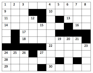 Crossword Puzzle: Summer Issue