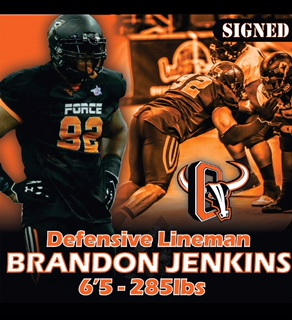 Assistant football coach Brandon Jenkins signs with the Omaha Beef