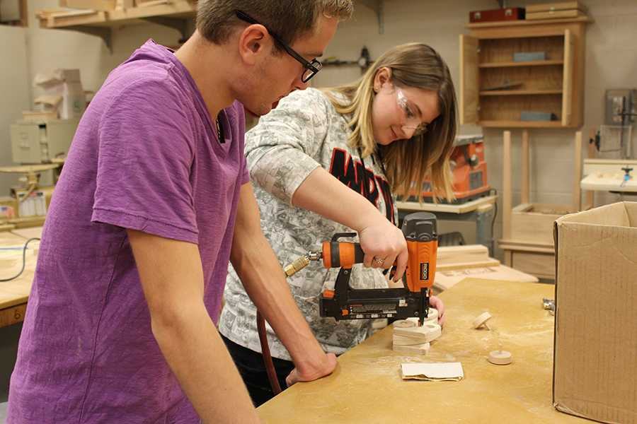 Woodshop Two builds for Toys for Tots