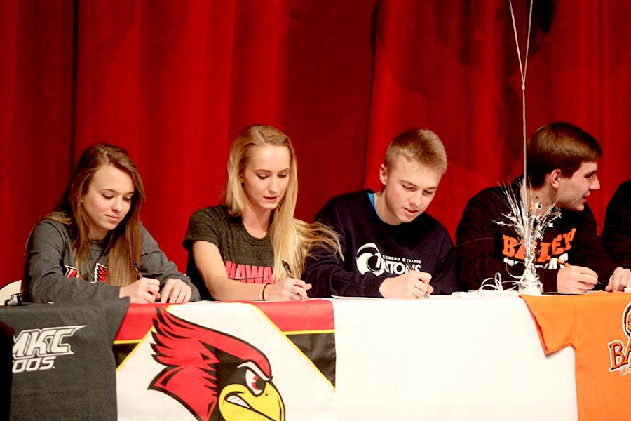 Athletes honored at signing ceremony