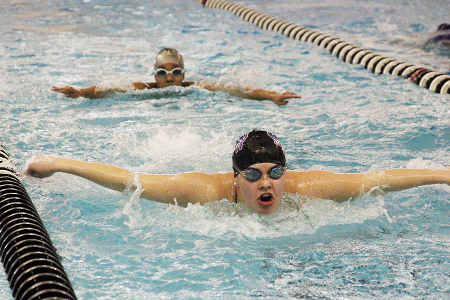 Girls swim and dive makes a splash at the Greg House Invitational