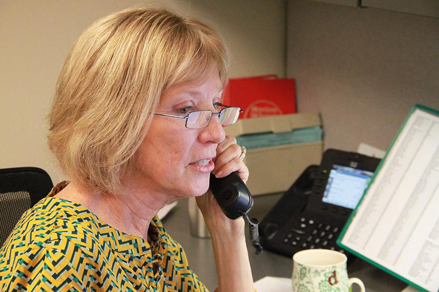 Administrative assistant Dorothy Long is set to retire Friday