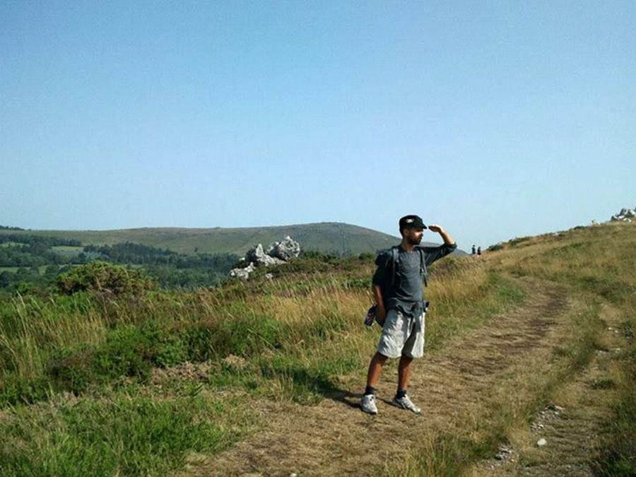 Student teacher Manuel Novas goes for a walk in Spain, his native country.