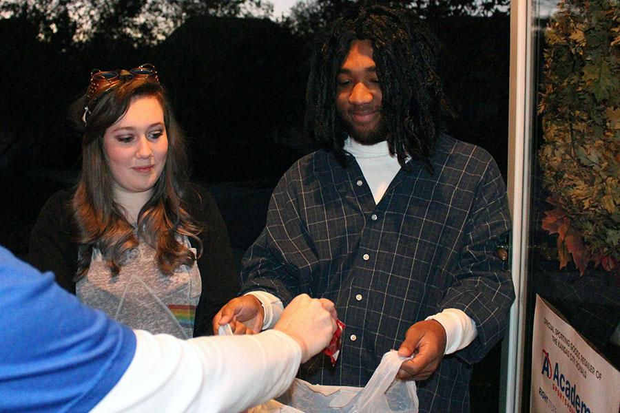 Junior Aly Lawless dressed up as Quick Silver from X-Men and senior Howard Thomas dressed up as Buckwheat from The Little Rascals for Halloween this year.