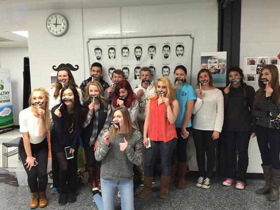 Art department promotes classes with mustaches