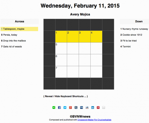 Wednesday, February 11, 2015 crossword