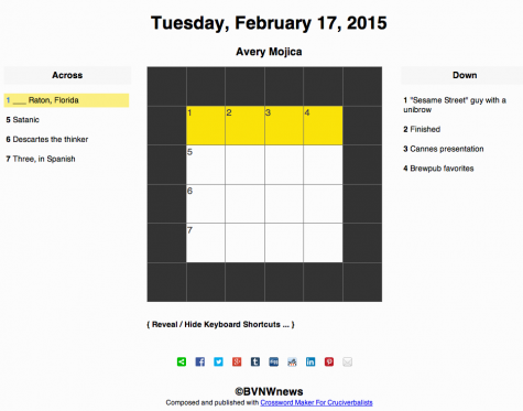 Tuesday, February 17, 2015 crossword