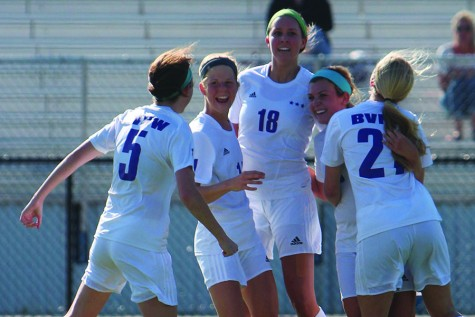 Girls varsity soccer defeats St. Teresa's Academy