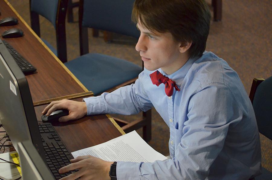 alex studying