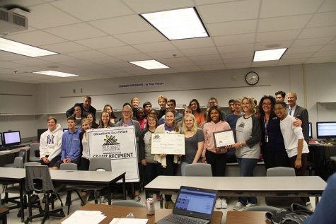 """Blue Valley Education Foundation """"Prize Patrol"""" visits BVNW to deliver grants to teachers"""
