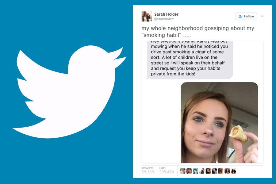 Senior Sarah Holder goes viral on Twitter