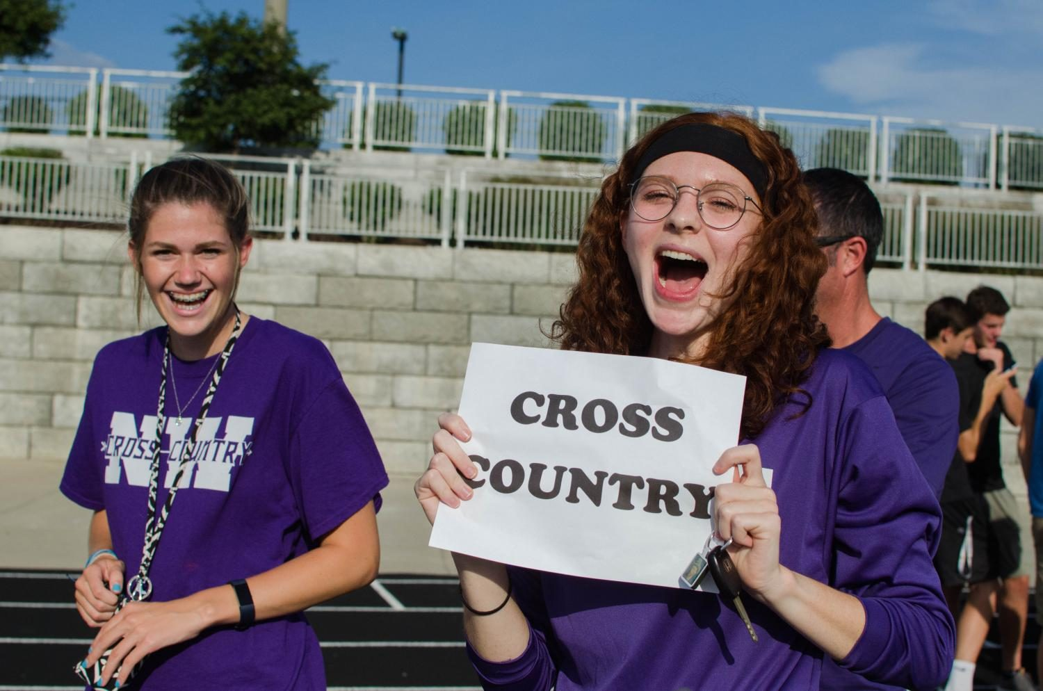Cross country runners Katie Henry and ________ at Husky Night.