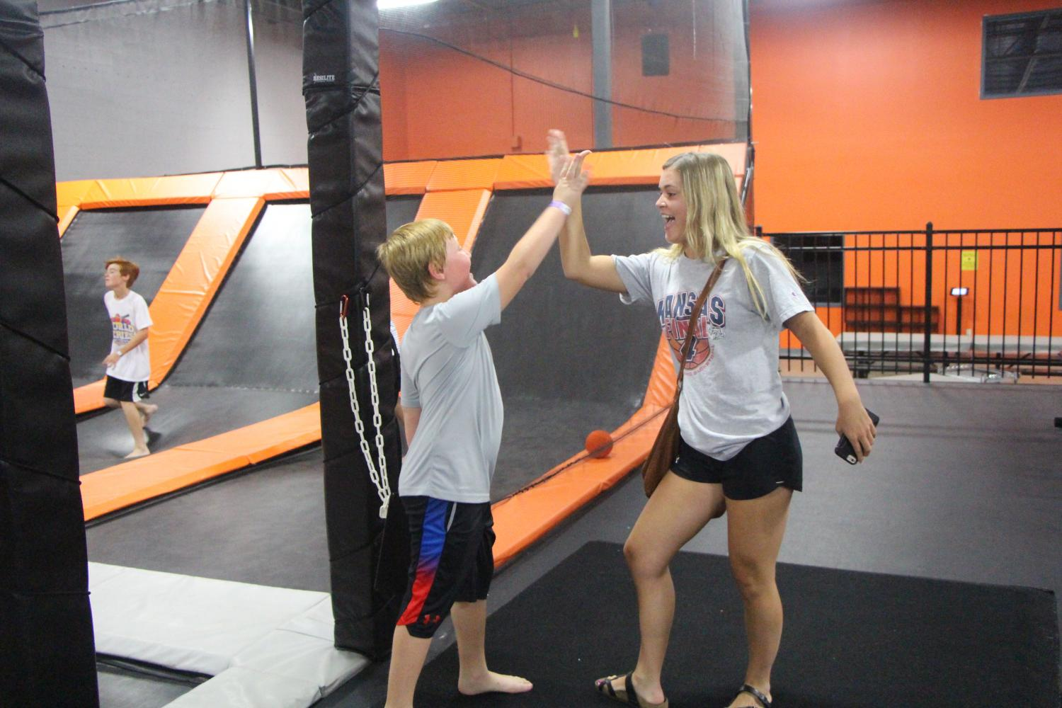 Junior Natalie Williams' summers are spent nannying and taking the kids she nannies to activities like jumping at the trampoline park Urban Air.