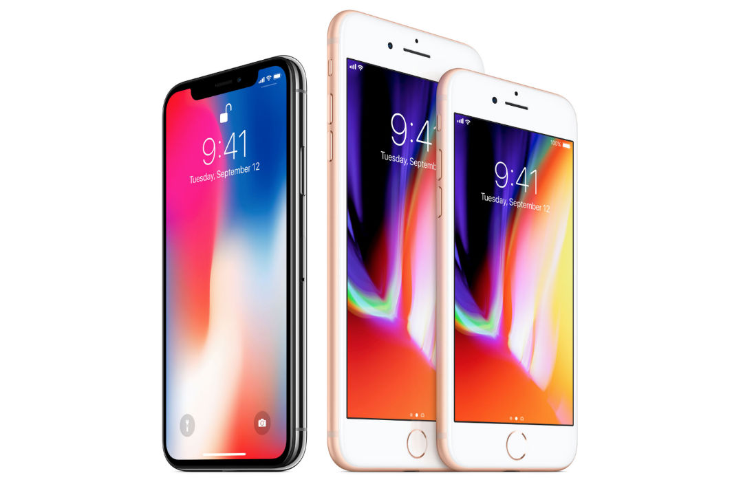 The iPhone X (left) starts at $999 and the iPhone 8 and iPhone 8 Plus (right) start at $699 and $799 respectively.