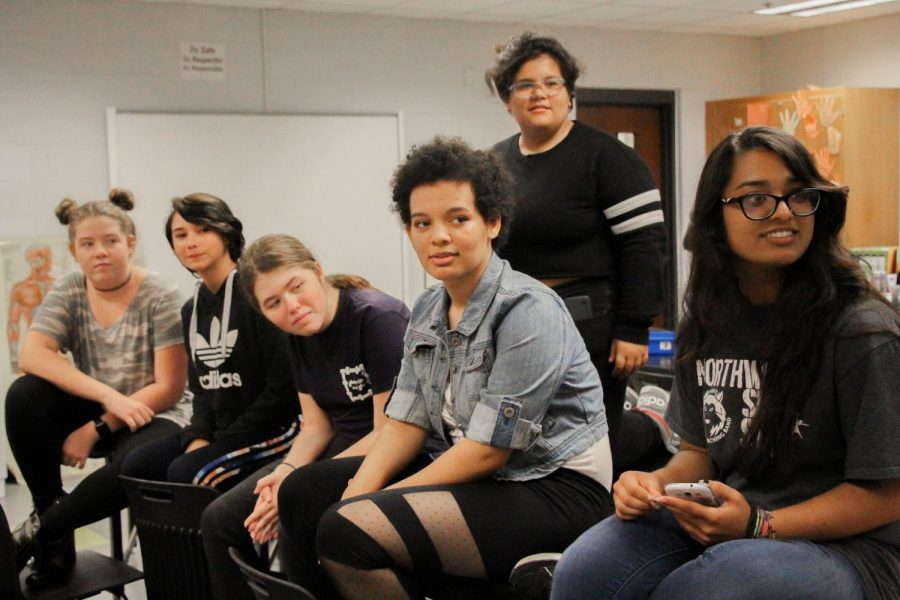 Members of the BVNW Gender Sexuality Alliance at the club's meeting on Oct. 9.