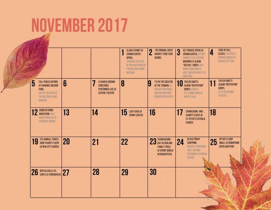 November Event Calendar