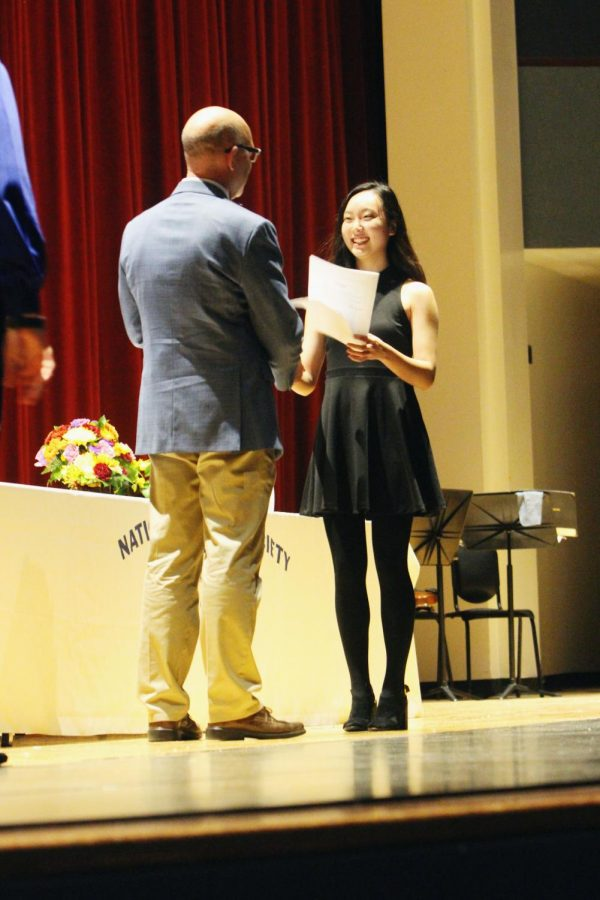 141 new members were inducted into the National Honor Society on November 14 in the PAC.