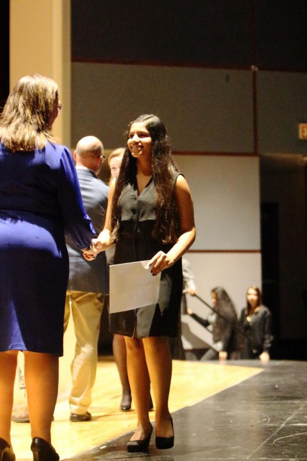The National Honor Society Induction was held on November 14 in the PAC.