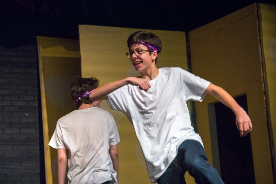 Freshman Christian Chamberlain is part of the improv club and is also a school mascot.