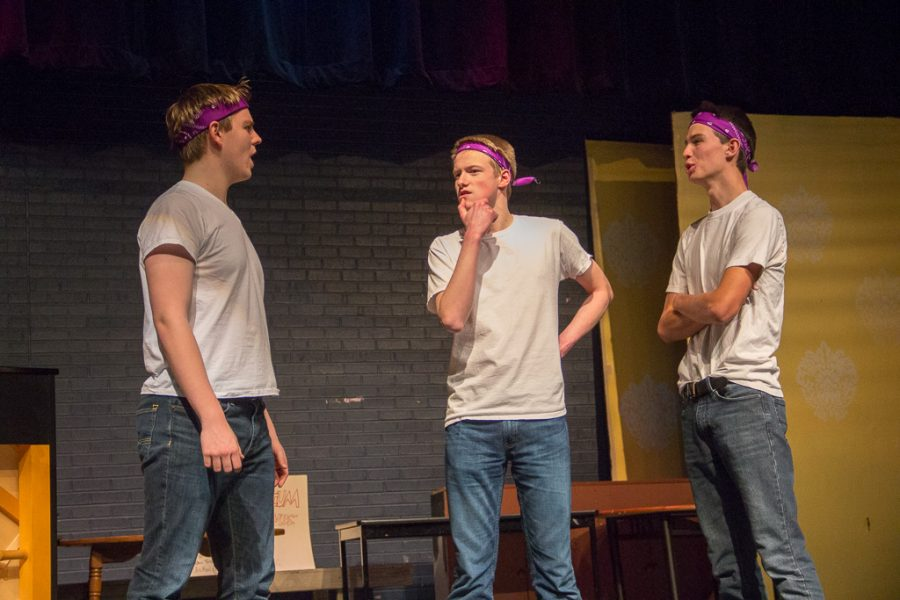 This was the first of many performances for the improv club.