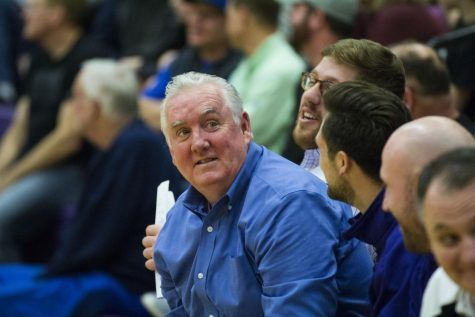 Fritz gets 600th win as Huskies defeat Saints, 69-46