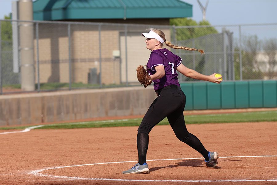With a tighter schedule for the varsity softball team, pitchers like junior Sadie Varhall could be impacted.