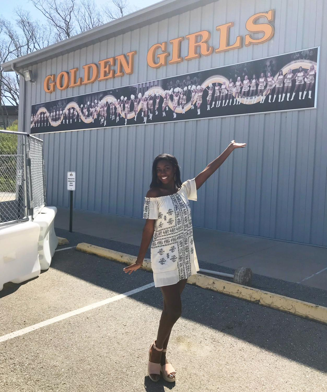 Senior Camille Sturdivant made the 2018-19 Golden Girls dance team at the University of Missouri.