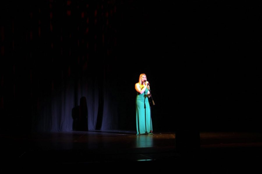 Kadisyn Kircher performs Bound to You by Christina Aguilera at the KC Superstar Competition.
