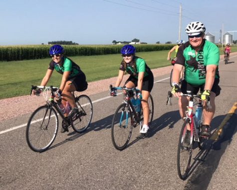 Senior Morgan Beemer rode 428 miles across Iowa
