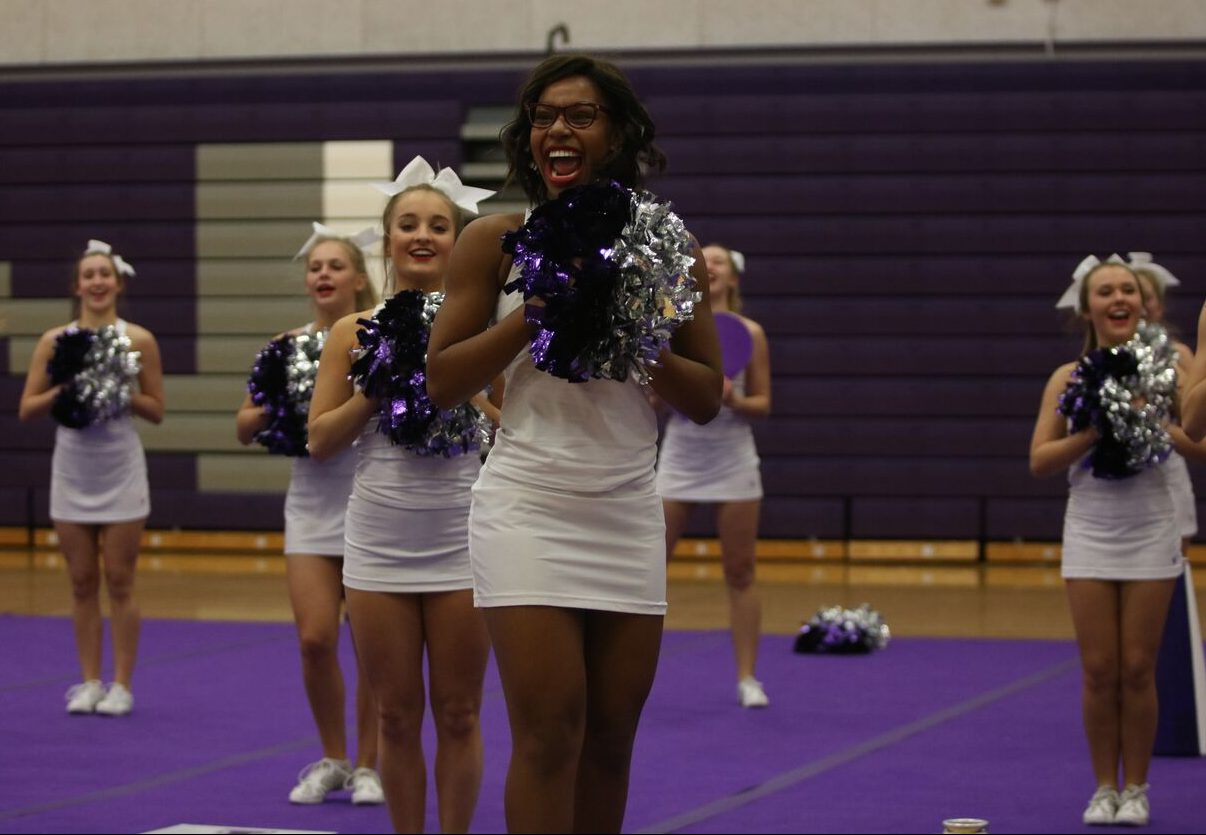 The BVNW cheer team preforms in a showcase on Nov. 9.