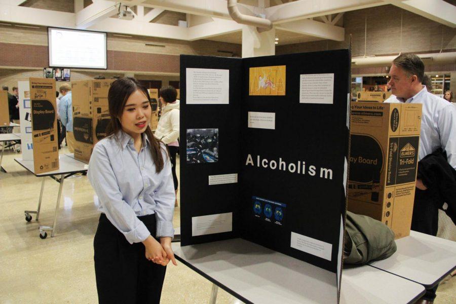 Ja-Min+Lee+presents+her+ELA+12+project+on+alcoholism+Dec.+5.