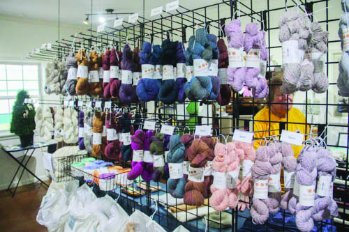 Along with giving tours of the farm, Manna Meadows sells the fleece from the alpacas. They also sell yarn, socks and other clothing items.