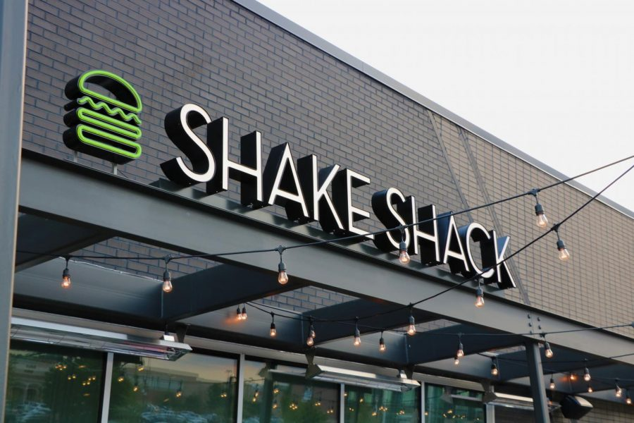 The Shake Shack logo sits above the front doors.