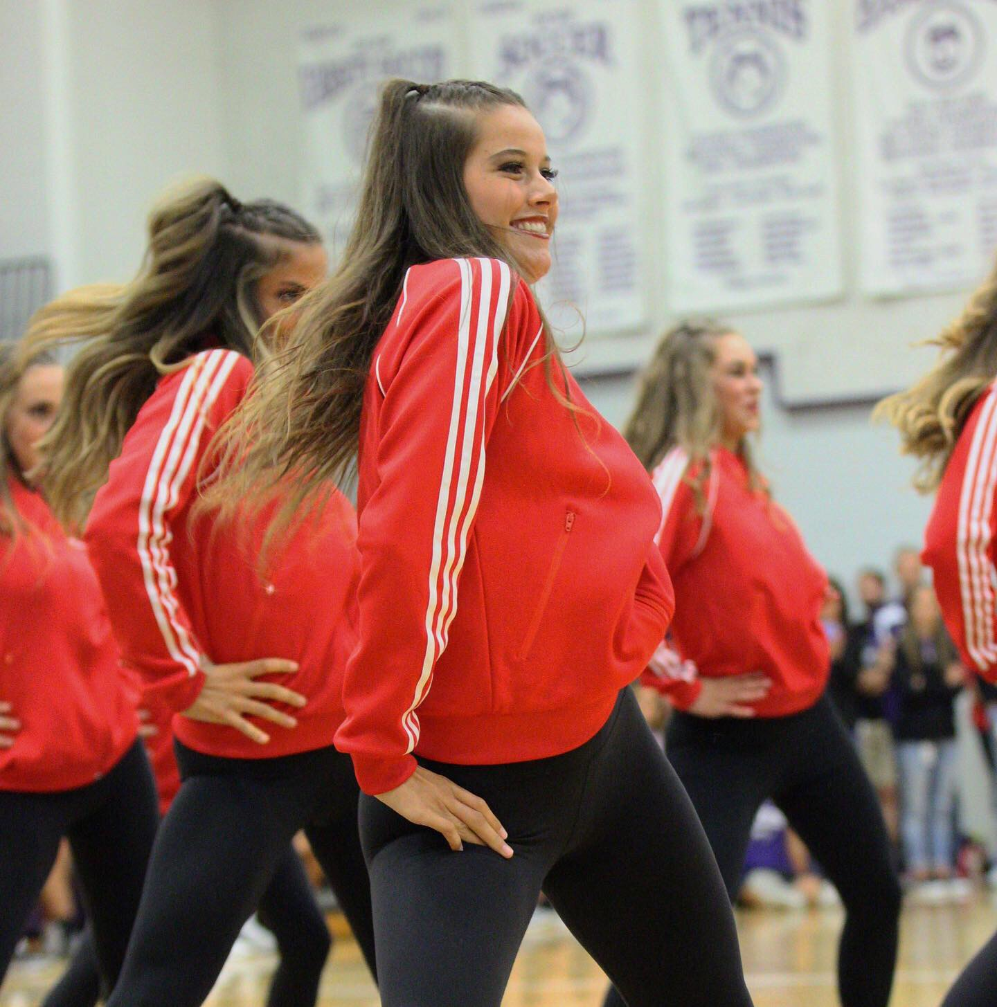 Senior+Sarah+McGuyer+performs+with+the+dance+team%2C+The+Pack%2C+at+the+pep+assembly%2C+on+Sept.+6.+