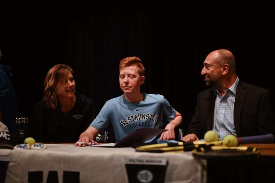 Senior Cooper Pennington will attend Westminster College to play Tennis. I chose to go to Westminster because of the college connections with Elite [Tennis Club], Pennington said. Its great [and] I like the schools atmosphere.