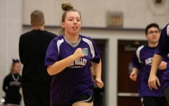 BVNW student Avery Reid participates in the Unified Sports basketball scrimmage at Late Night in the pound.