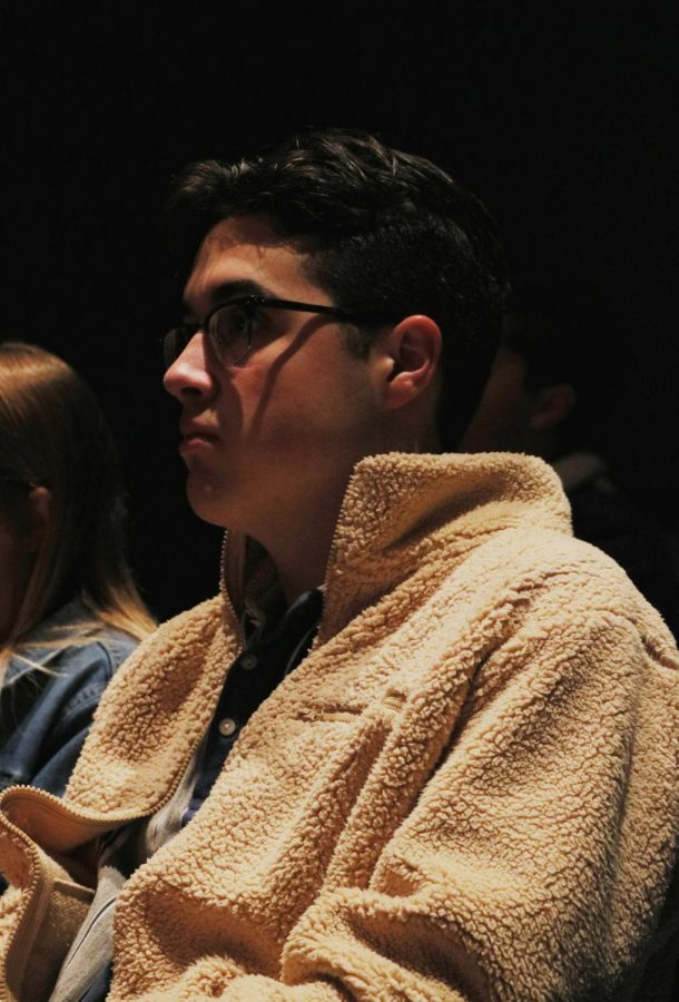 We the People student Sean Nicholson looks on at the Pre-Legislative Town Hall held at BVNW, Dec. 7.