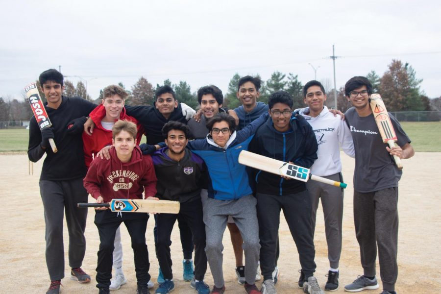 """The cricket team poses for a group picture, Nov. 16. """"The motto we created for this league is 'Diversity #1' which is something we all strive to follow. Playing this game allows us to reconnect back to our culture and for others they get to learn about a new one,"""" Senior captain Samanyu Pusuluri said."""