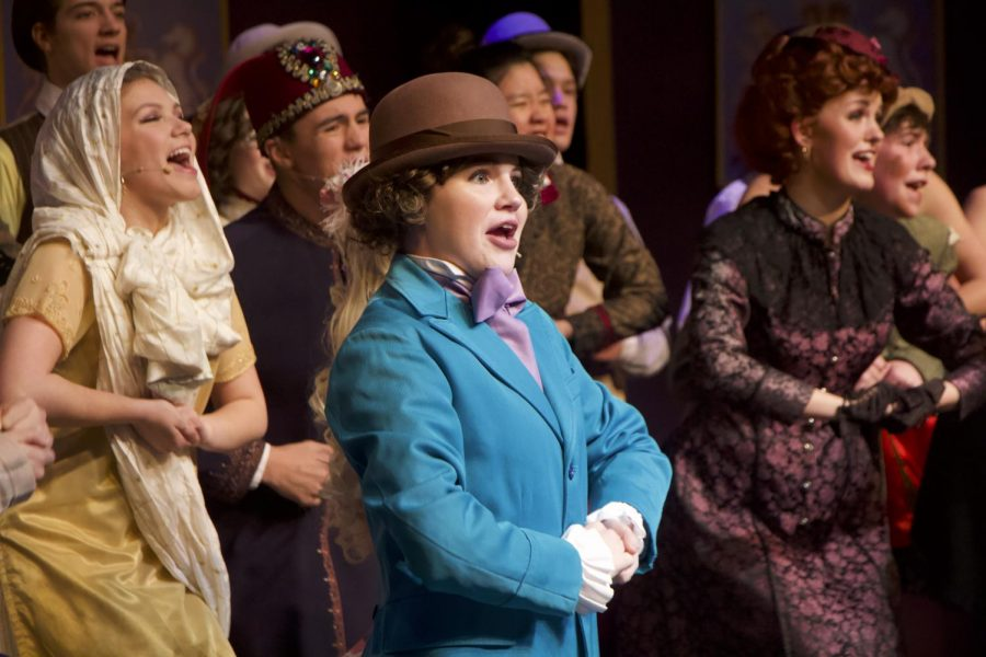 Sophomore Maggie Bunch performs in the musical at the PAC.
