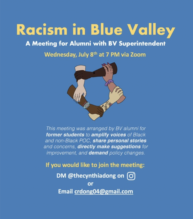 As students' stories of racism surface after Blue Valley's response to the Black Lives Matter movement, students and alumni discuss ways the district can end racial inequality and bullying with superintendent Tonya Merrigan.