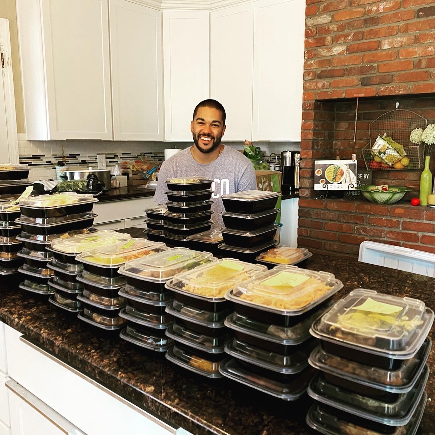 Matt Shulman, social studies teacher at BVNW, spends his Sunday mornings preparing meals for his small catering company.