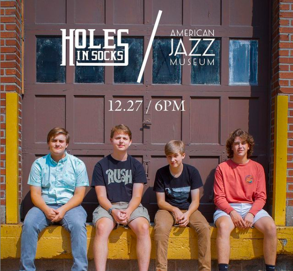During COVID, having any kind of ties to the entertainment industry was difficult but two senior Josh Robinson and sophomore Scott Wyatt were still able to begin their own band, Holes in Socks.
