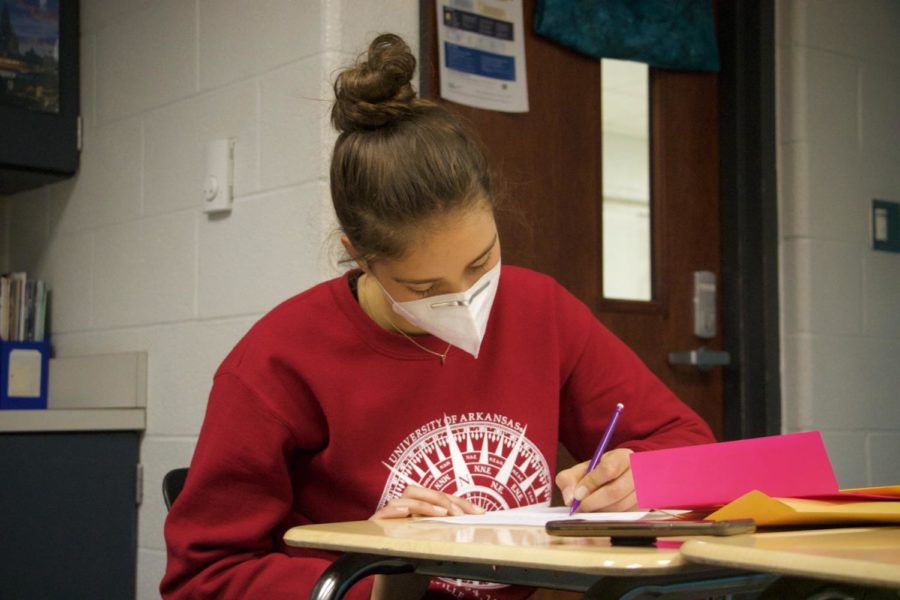 Beginning second semester, members of Spanish Honors Society began writing to high school orphans in the Domincan Republic.