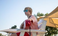 Sophomore Sterling Smith works his job as a lifeguard, Sept. 6.